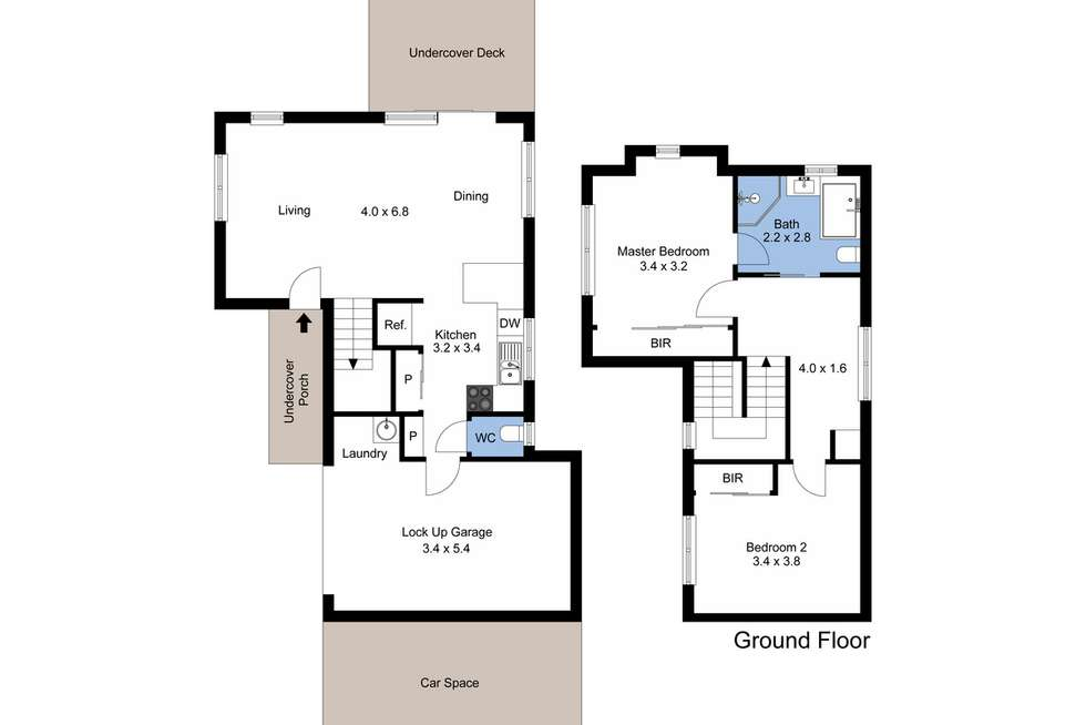 Floorplan of Homely townhouse listing, 3/175 Kings Road, New Lambton NSW 2305