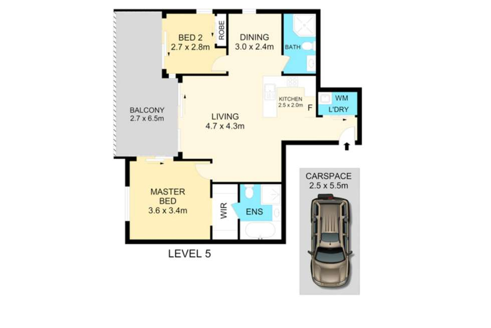 Floorplan of Homely apartment listing, 25/39 Cowper Street, Parramatta NSW 2150