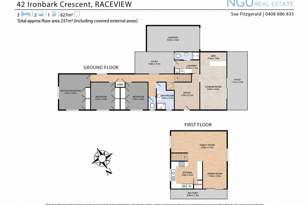 Floorplan of Homely house listing, 42 Ironbark Crescent, Raceview QLD 4305