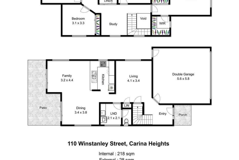 Floorplan of Homely house listing, 110 Winstanley Street, Carina Heights QLD 4152