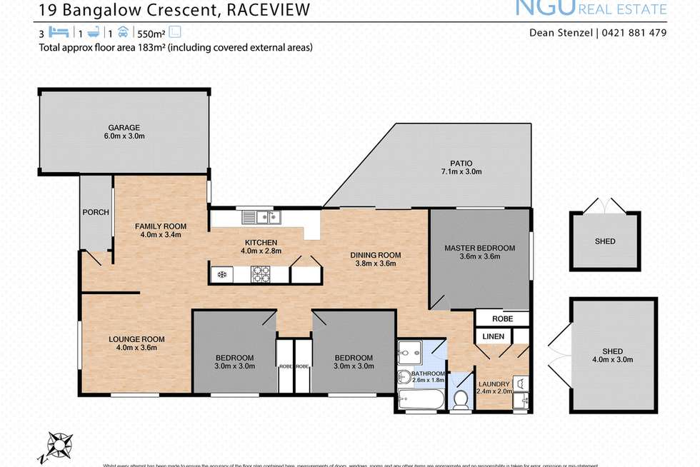 Floorplan of Homely house listing, 19 Bangalow Crescent, Raceview QLD 4305