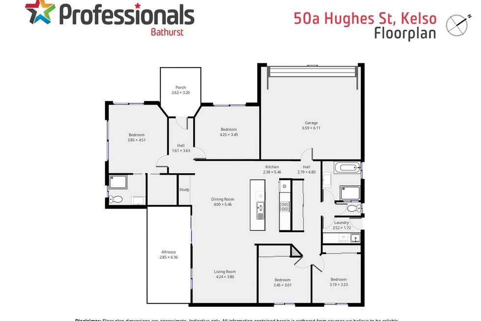 Floorplan of Homely house listing, 50 Hughes Street, Kelso NSW 2795