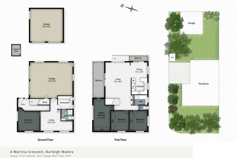 Floorplan of Homely house listing, 4 Warrina Crescent, Burleigh Waters QLD 4220
