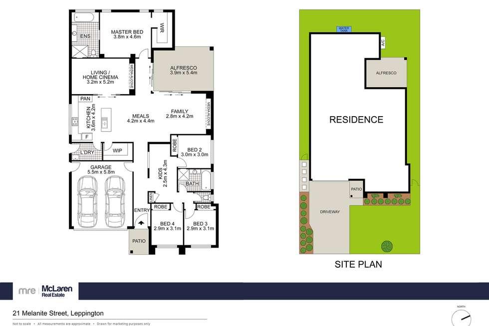 Floorplan of Homely house listing, 21 Melanite Street, Leppington NSW 2179