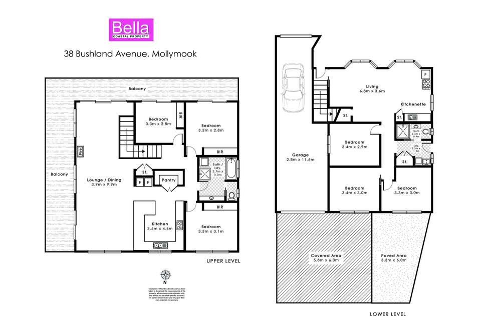 Floorplan of Homely house listing, 38 Bushland Avenue, Mollymook Beach NSW 2539