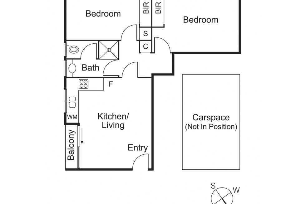 Floorplan of Homely apartment listing, 1/176 Liardet Street, Port Melbourne VIC 3207