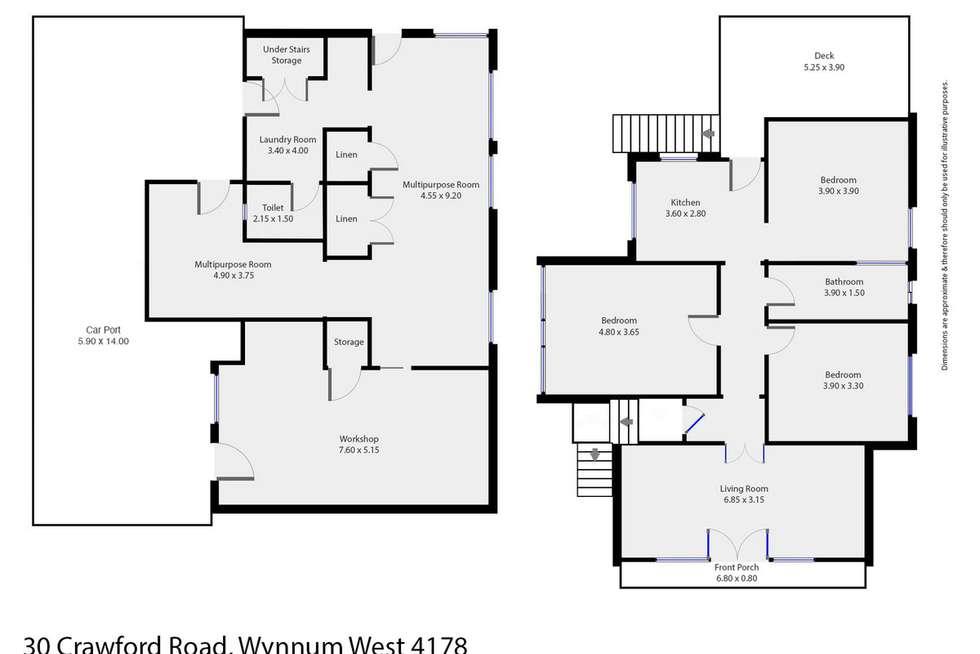 Floorplan of Homely house listing, 30 Crawford Road, Wynnum West QLD 4178