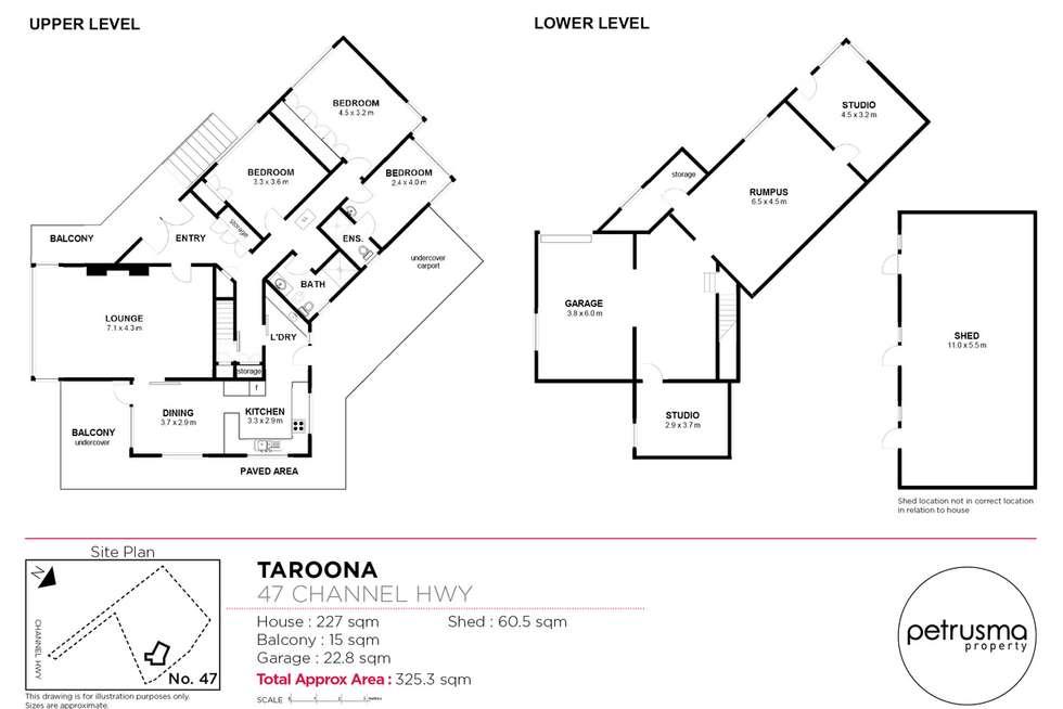 Floorplan of Homely house listing, 47 Channel Highway, Taroona TAS 7053