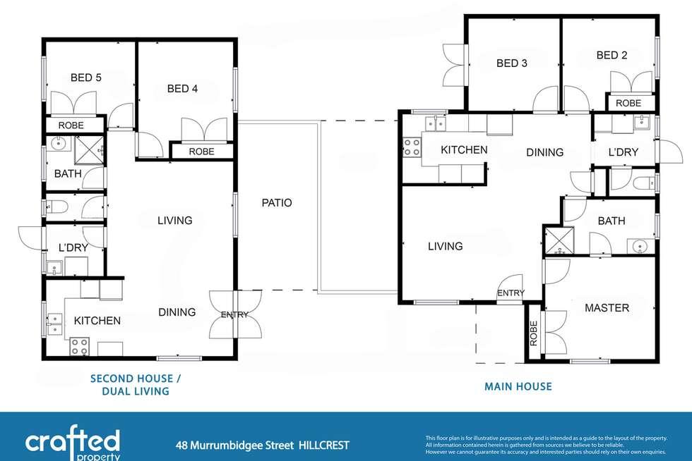 Floorplan of Homely house listing, 48 Murrumbidgee Street, Hillcrest QLD 4118