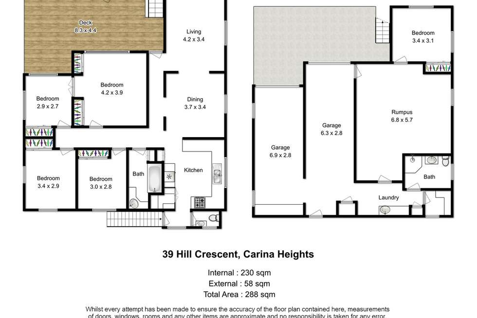 Floorplan of Homely house listing, 39 Hill Crescent, Carina Heights QLD 4152