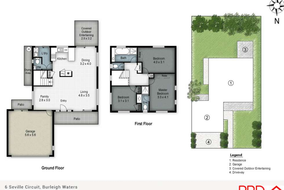 Floorplan of Homely house listing, 6 Seville Place, Burleigh Waters QLD 4220
