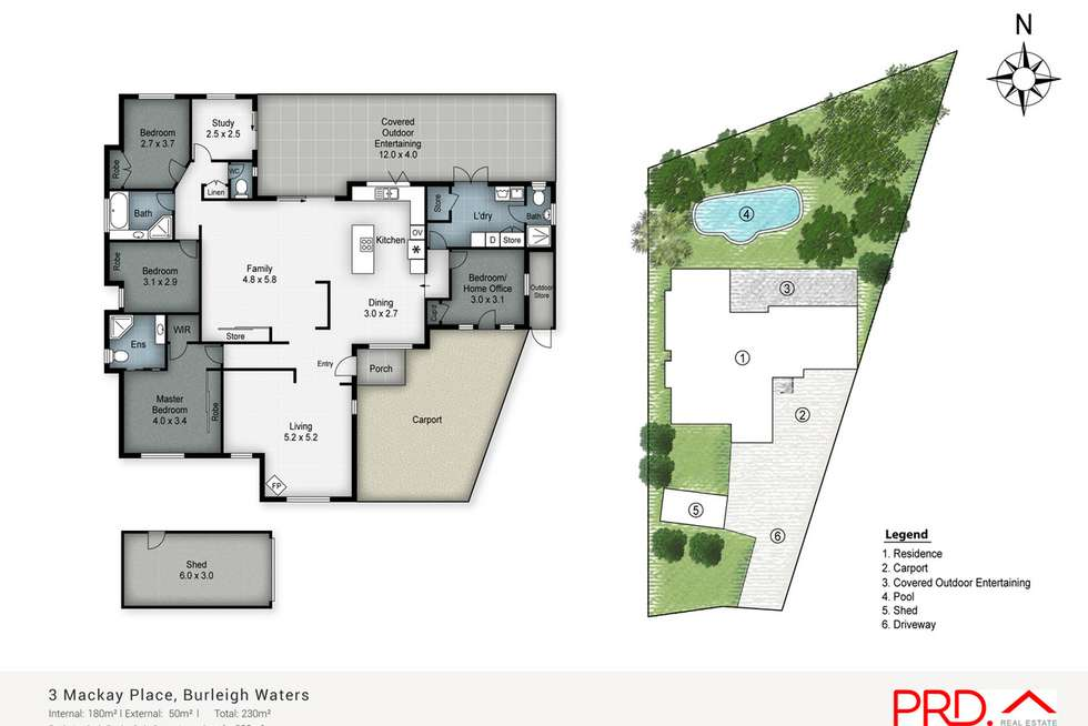 Floorplan of Homely house listing, 3 Mackay Place, Burleigh Waters QLD 4220