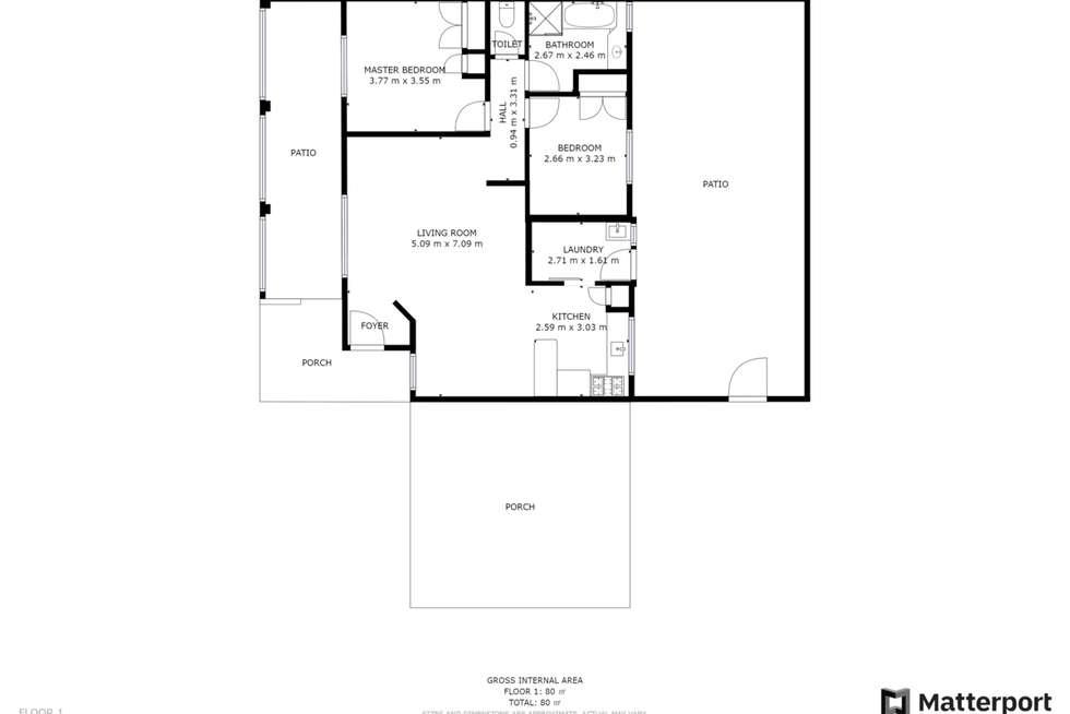 Floorplan of Homely villa listing, 6/117 Old Perth Road, Bassendean WA 6054