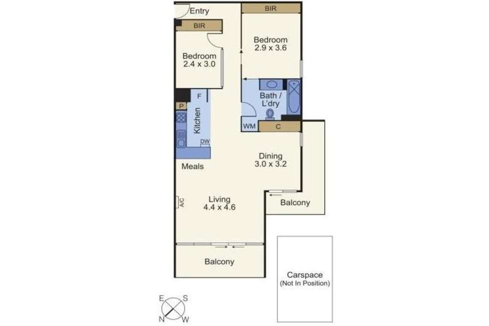 Floorplan of Homely apartment listing, 411/54 Nott Street, Port Melbourne VIC 3207