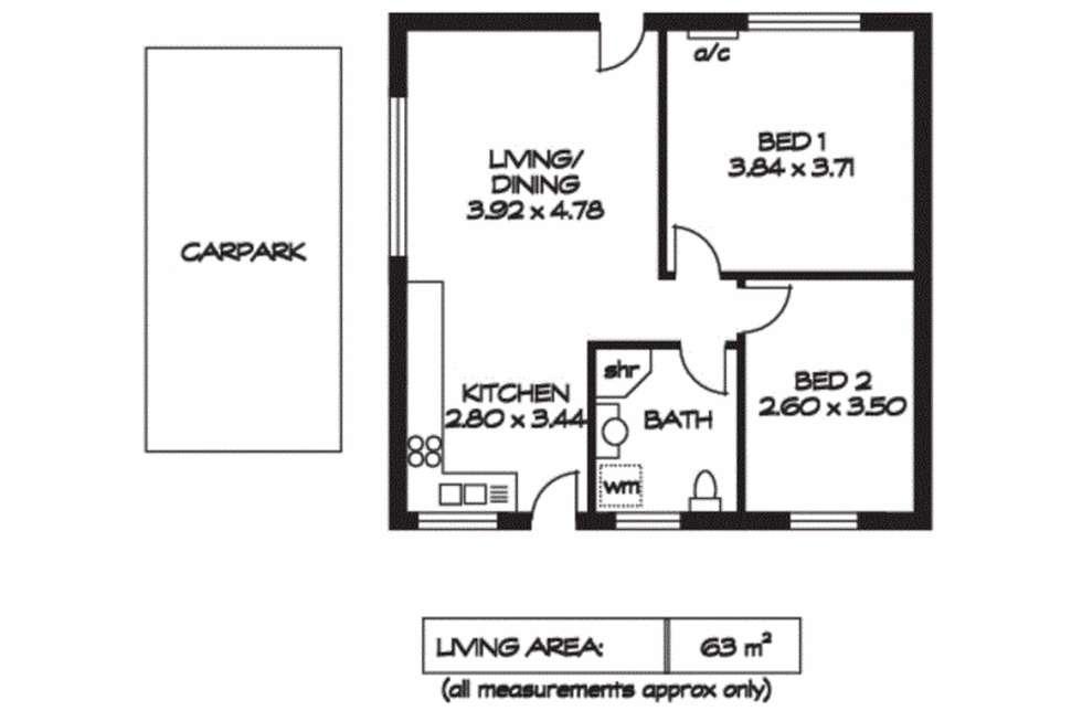 Floorplan of Homely unit listing, 3/6 Wellington Street, Kensington SA 5068