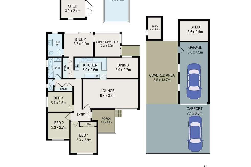 Floorplan of Homely house listing, 6 Elm Place, Constitution Hill NSW 2145