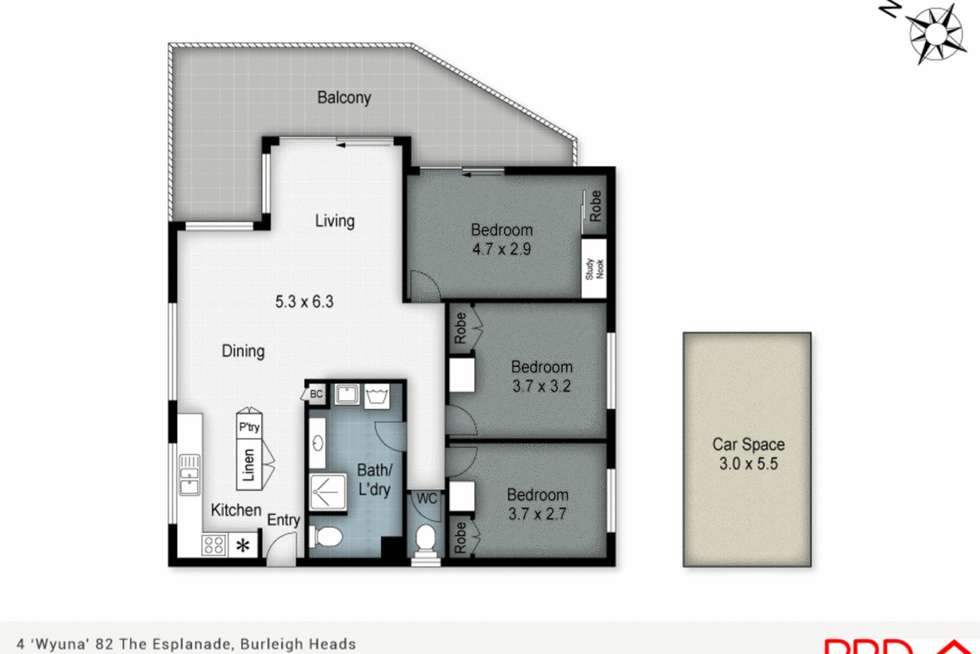 Floorplan of Homely apartment listing, 4/82 The Esplanade, Burleigh Heads QLD 4220