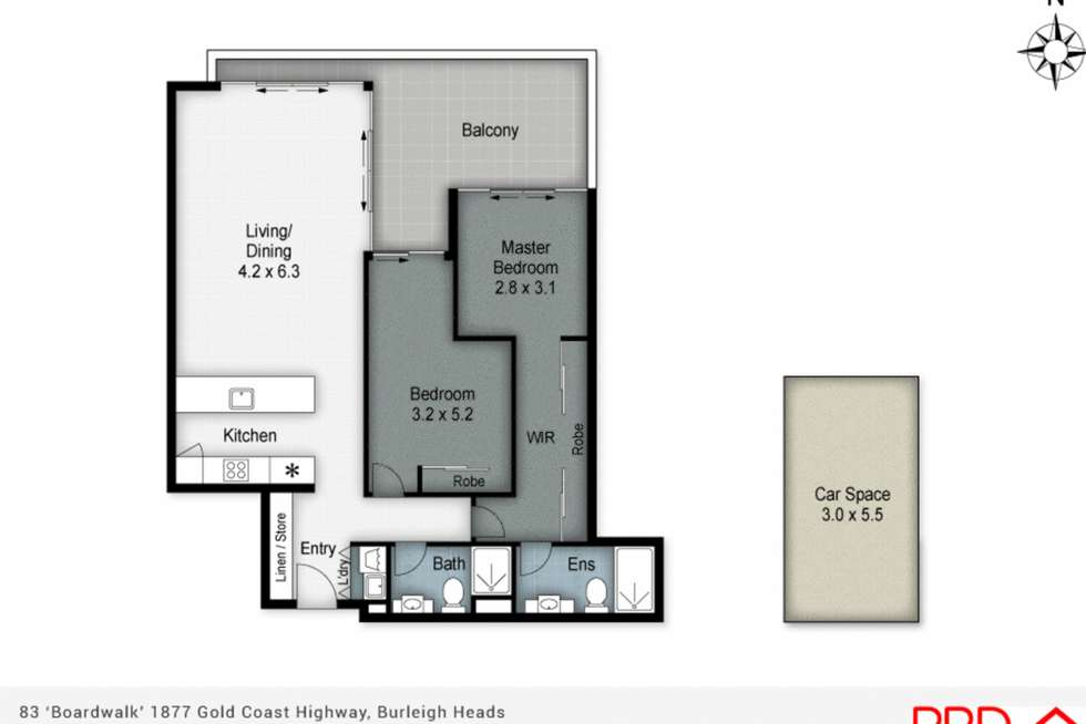 Floorplan of Homely apartment listing, 83/72 The Esplanade, Burleigh Heads QLD 4220
