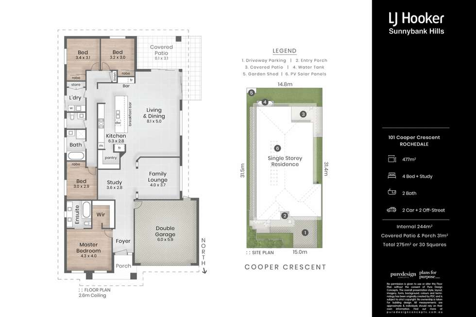 Floorplan of Homely house listing, 101 Cooper Crescent, Rochedale QLD 4123