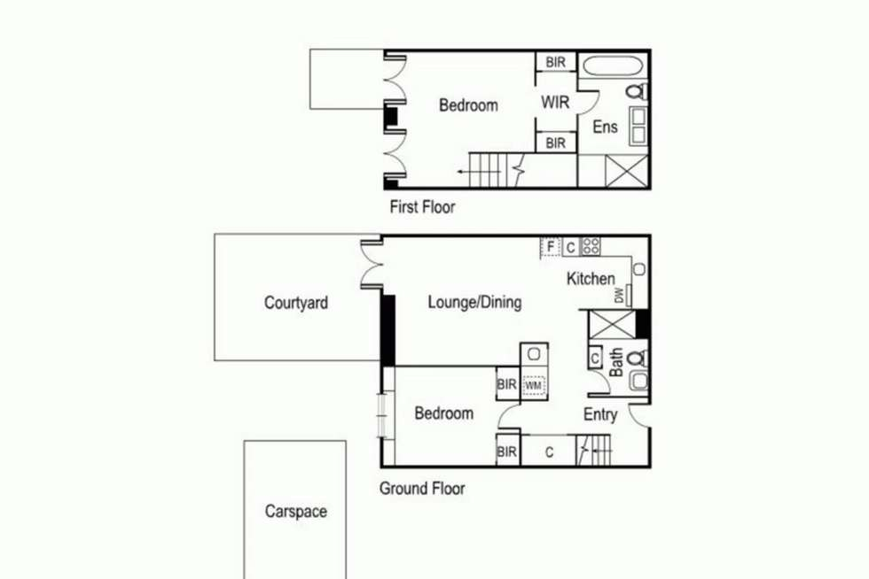 Floorplan of Homely apartment listing, 106/50 Dow Street, Port Melbourne VIC 3207