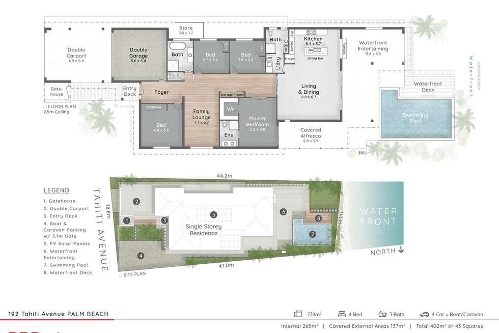 Floorplan of Homely house listing, 192 Tahiti Avenue, Palm Beach QLD 4221