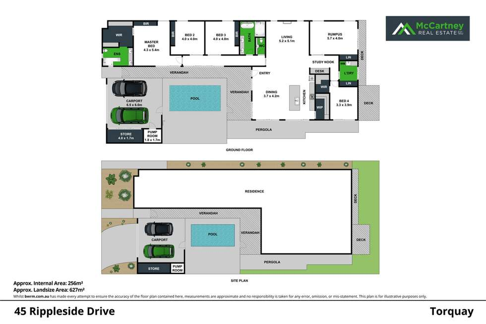 Floorplan of Homely house listing, 45 Rippleside Drive, Torquay VIC 3228