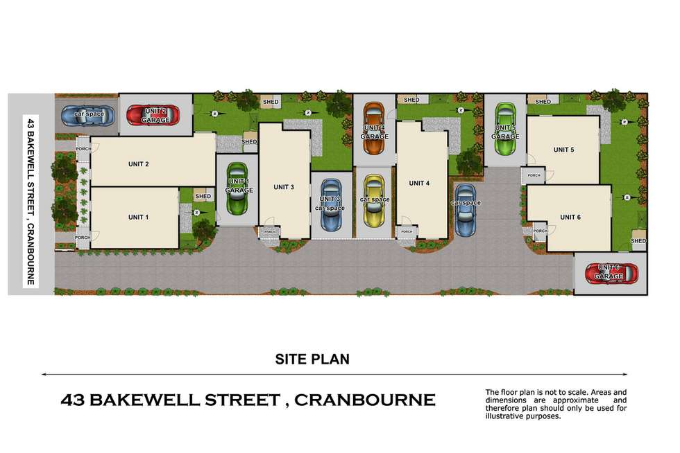 Floorplan of Homely townhouse listing, 1/43 Bakewell Street, Cranbourne VIC 3977