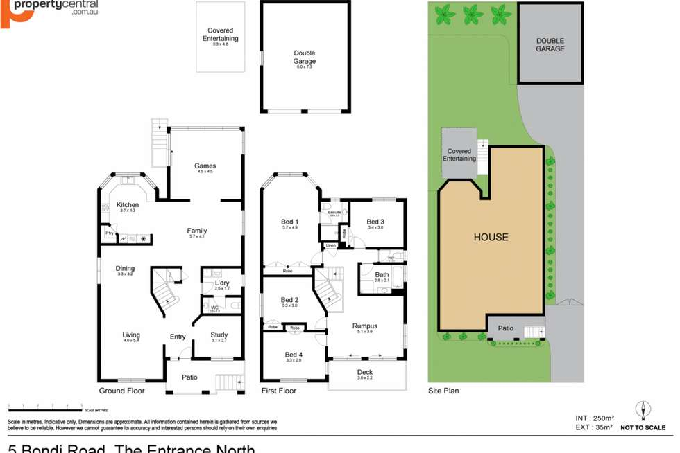 Floorplan of Homely house listing, 5 Bondi Road, The Entrance North NSW 2261