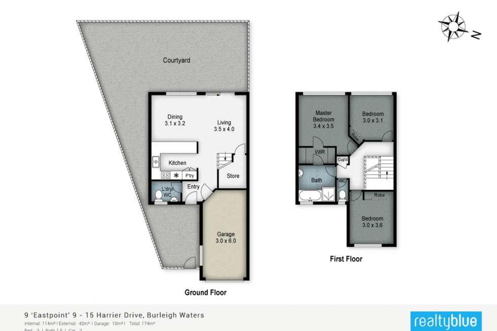 Floorplan of Homely townhouse listing, 9/9-15 Harrier Drive, Burleigh Waters QLD 4220