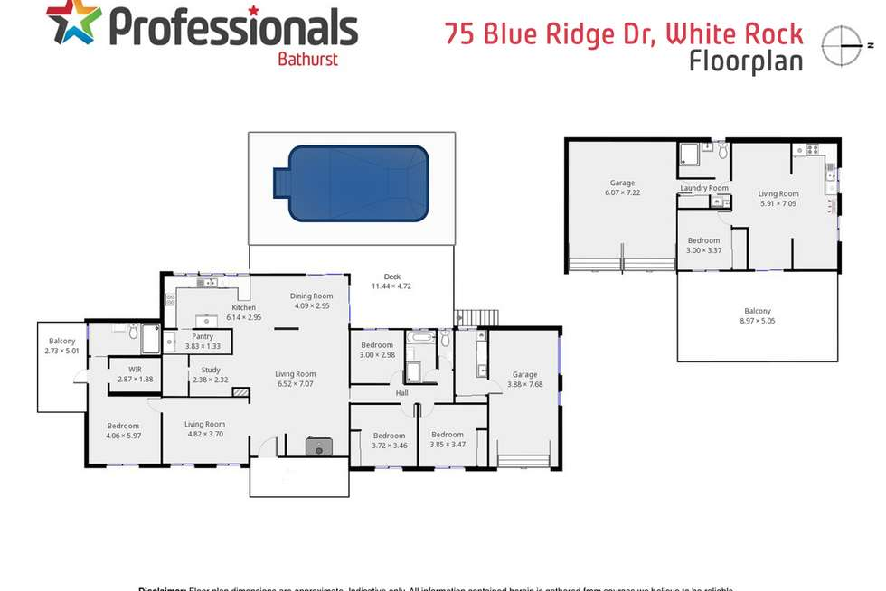 Floorplan of Homely house listing, 75 Blue Ridge Drive, White Rock NSW 2795
