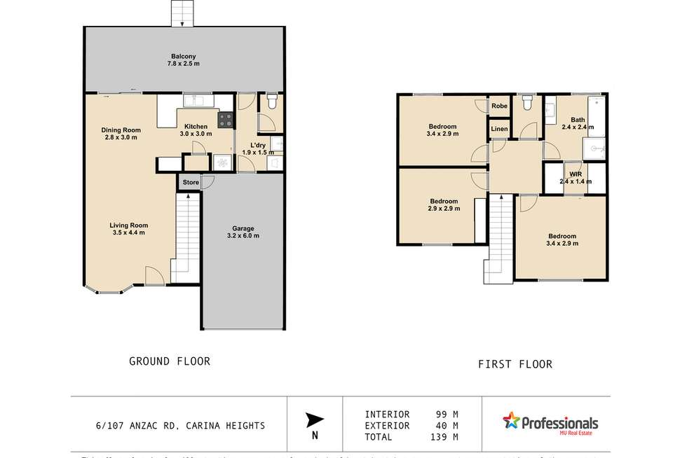 Floorplan of Homely townhouse listing, 6/107 Anzac Road, Carina Heights QLD 4152