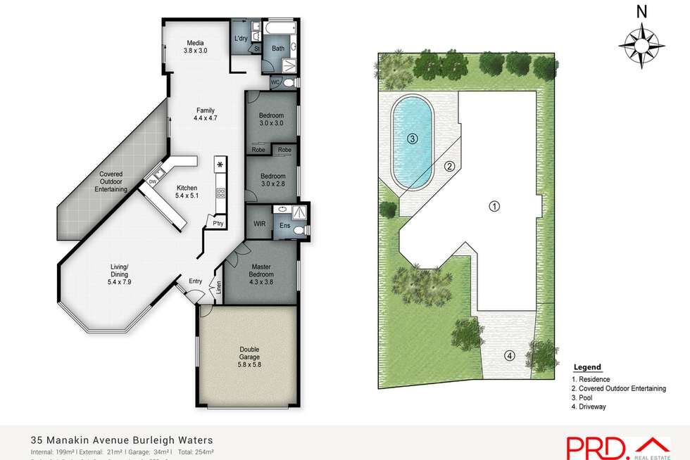 Floorplan of Homely house listing, 35 Manakin Avenue, Burleigh Waters QLD 4220