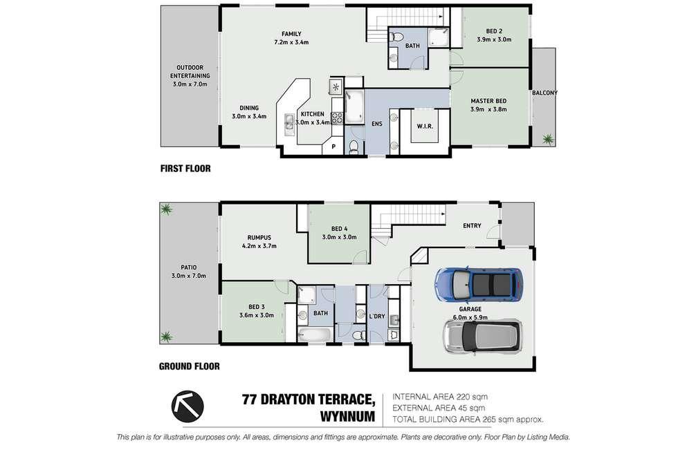 Floorplan of Homely house listing, 77 Drayton Terrace, Wynnum QLD 4178