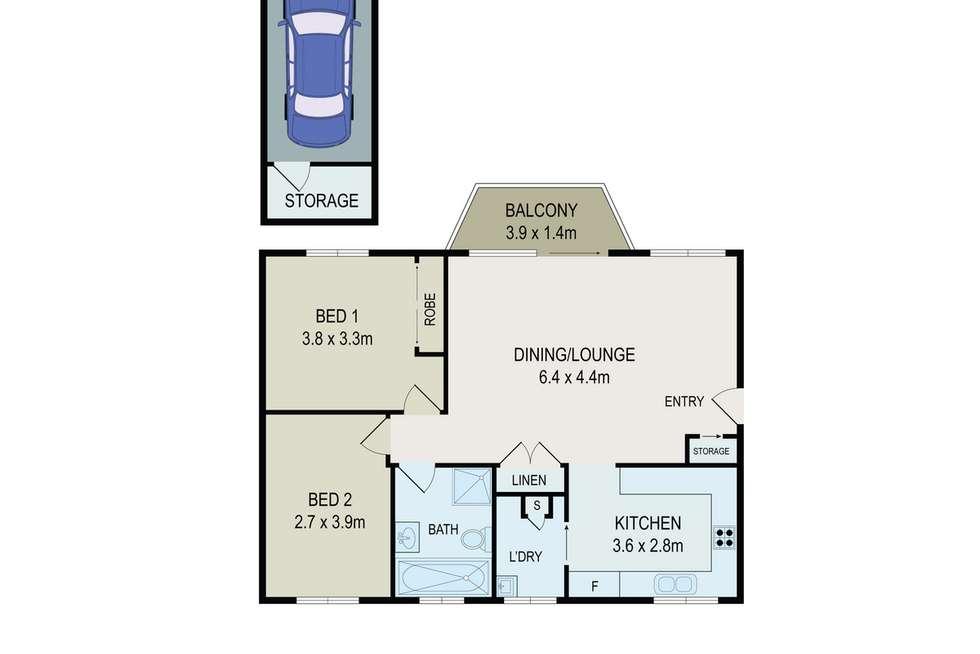 Floorplan of Homely unit listing, 2/19-23 Galloway Street, North Parramatta NSW 2151