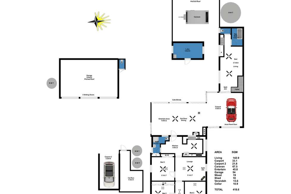 Floorplan of Homely house listing, 73 Milendella Road, Palmer SA 5237
