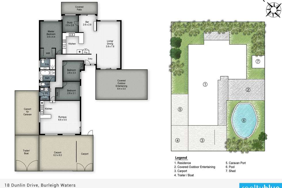 Floorplan of Homely house listing, 18 Dunlin Drive, Burleigh Waters QLD 4220