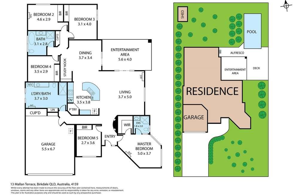 Floorplan of Homely house listing, 13 Mallan Terrace, Birkdale QLD 4159