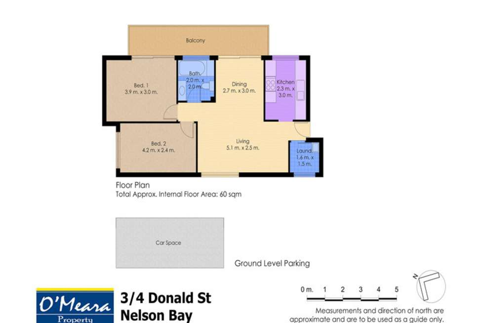 Floorplan of Homely unit listing, 3/4 Donald Street, Nelson Bay NSW 2315