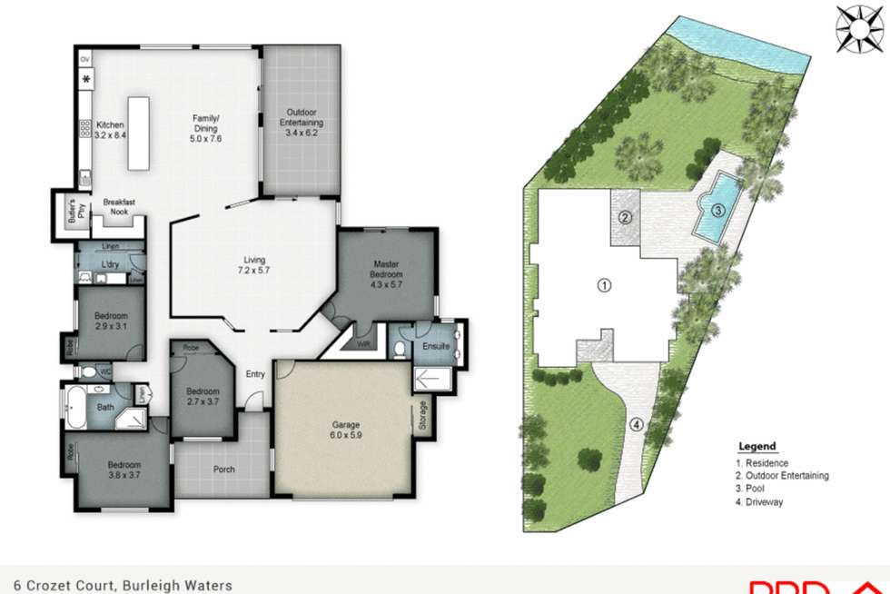 Floorplan of Homely house listing, 6 Crozet Crt, Burleigh Waters QLD 4220