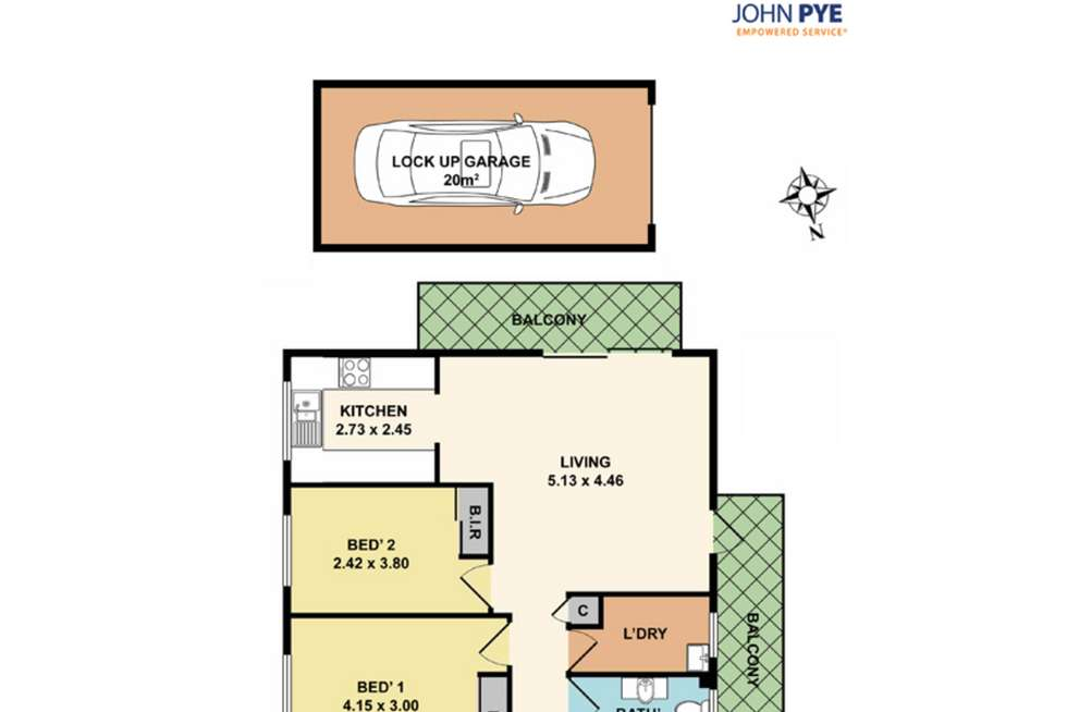 Floorplan of Homely unit listing, 3/82-84 Hunter Street, Hornsby NSW 2077