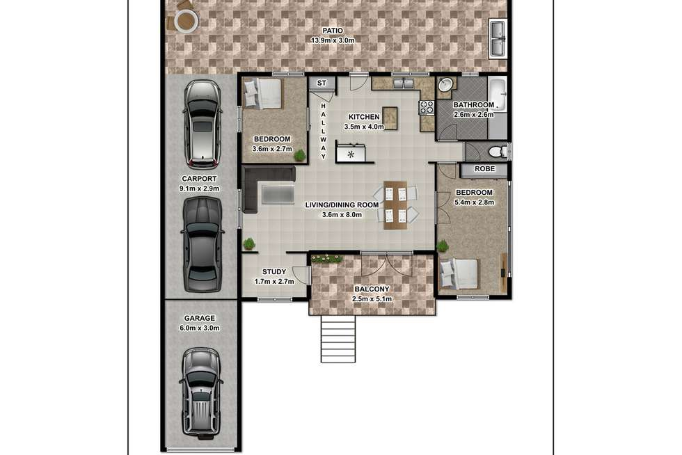 Floorplan of Homely house listing, 3 Dillon Street, Bungalow QLD 4870