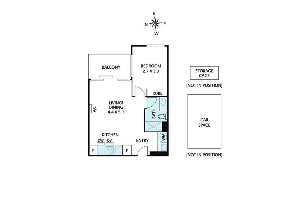 Floorplan of Homely apartment listing, 308/253 Bridge Road, Richmond VIC 3121