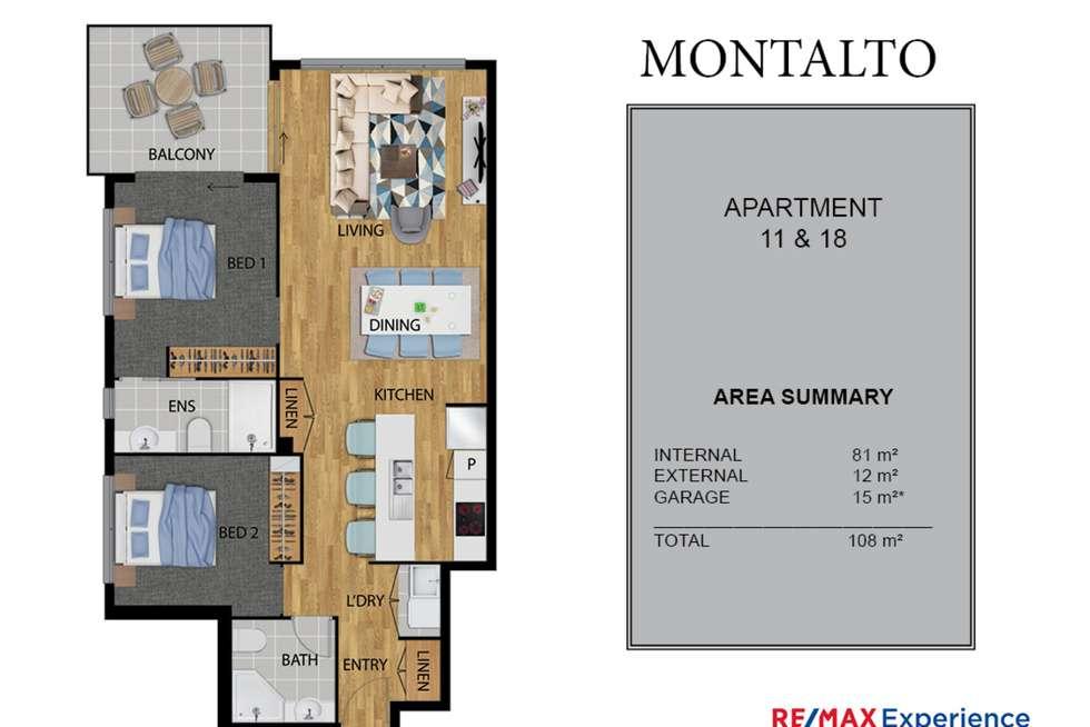 Floorplan of Homely apartment listing, 18/19 Jones Road, Carina Heights QLD 4152