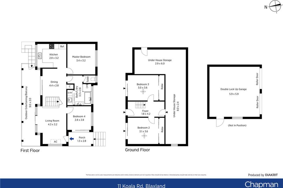 Floorplan of Homely house listing, 11 Koala Road, Blaxland NSW 2774