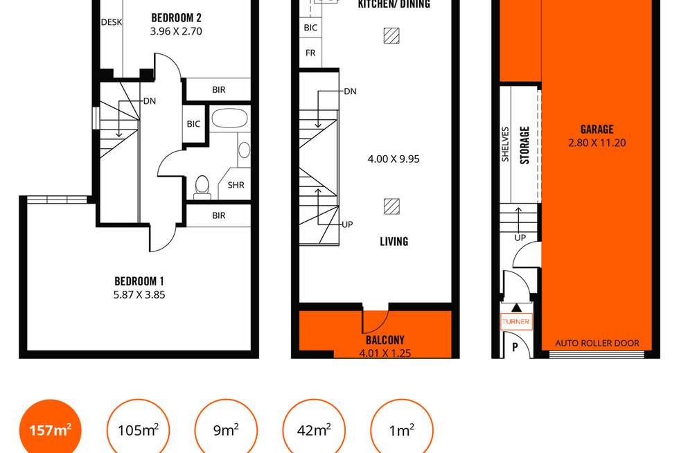 Floorplan of Homely townhouse listing, 20 Symonds Place, Adelaide SA 5000