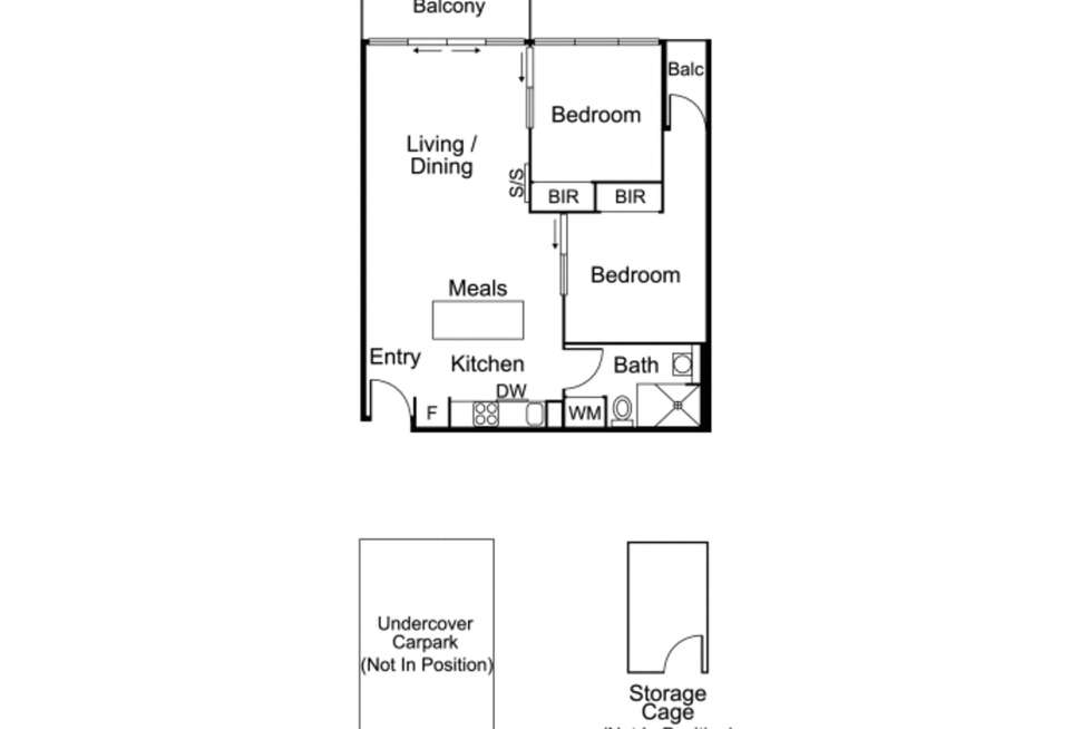 Floorplan of Homely apartment listing, 402/25 Pickles Street, Port Melbourne VIC 3207
