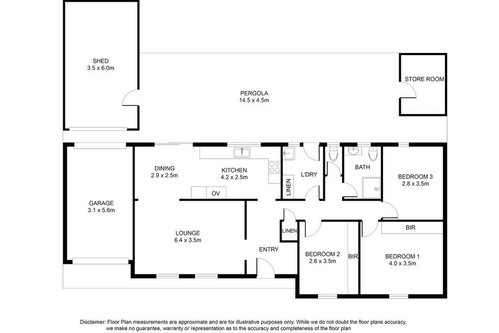 Floorplan of Homely house listing, 15 Sim Street, Mount Gambier SA 5290