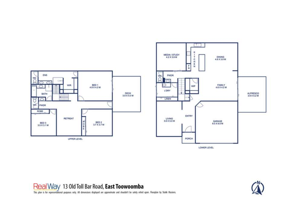 Floorplan of Homely house listing, 13 Old Toll Bar Road, East Toowoomba QLD 4350