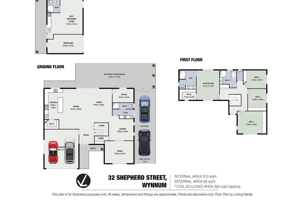 Floorplan of Homely house listing, 32 Shepherd Street, Wynnum QLD 4178