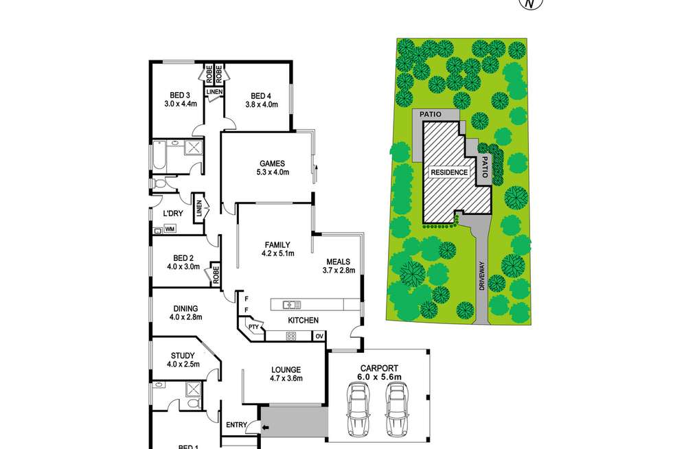 Floorplan of Homely house listing, 10 Silversmith Street, Wellard WA 6170